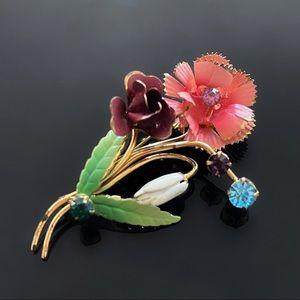 🌸 Beautiful Delicate Retro Flower Brooch